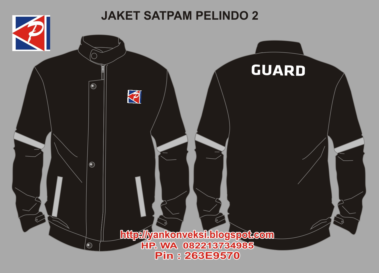 JAKET PESANAN SECURITY PELINDO 2