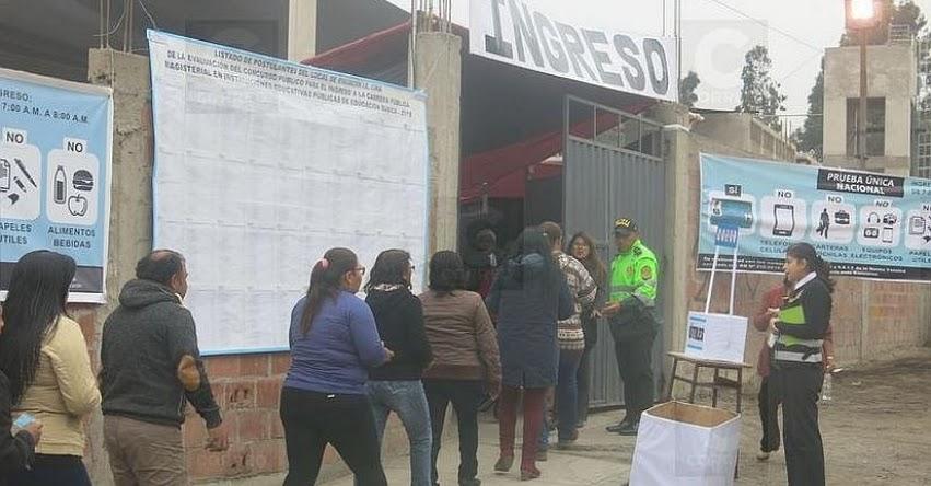 Más de 3 mil docentes darán prueba para nombramiento en la región Tacna