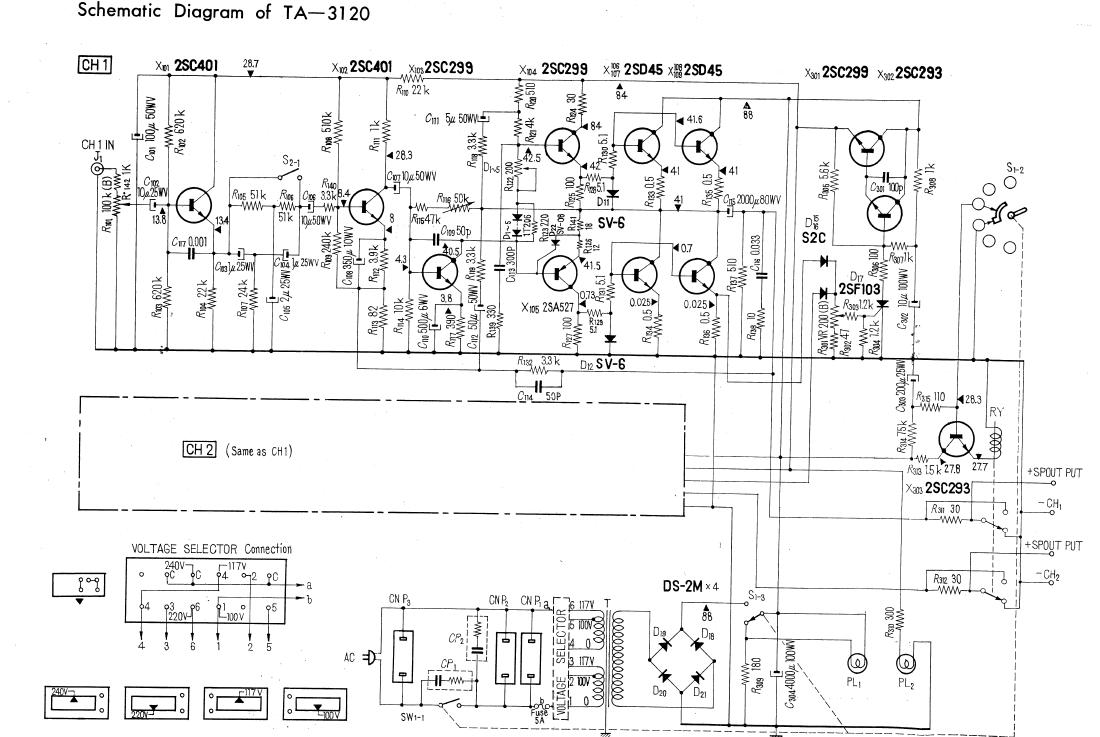 Solid State Amp Schematic Wire Center Generator With 555 Circuit Diagram Nonstopfree Electronic Circuits 6th Street Bridge Refurbishing A Vintage Sony Ta 3120a Rh 6streetbridge Blogspot Com