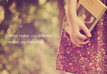 Everything and anything: Being different quotes