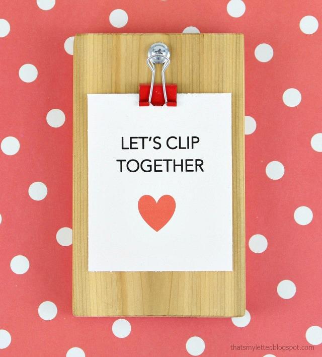 diy mini clipboard valentines