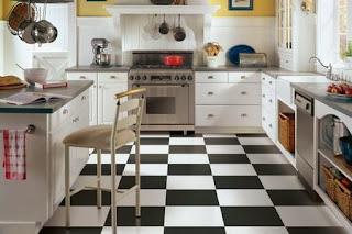 Cocina color blanco y negro