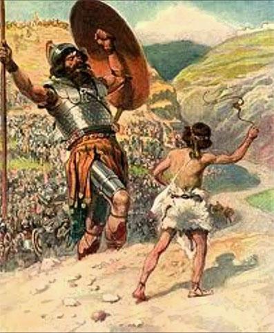 Znalezione obrazy dla zapytania: Dawid i goliat