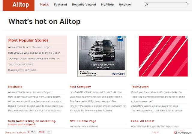Use Alltop to Find Guest Blogging Websites