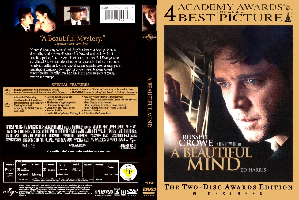 DVD COVER ANALYSIS A Beautiful Mind