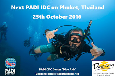 Next PADI IDC on Phuket, Thailand starts 25th October