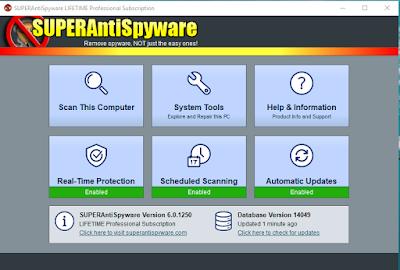 Screenshot SUPERAntiSpyware Professional 6.0.1254 Full Version