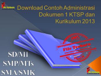 Download Contoh Administrasi Dokumen 1 KTSP dan Kurikulum 2013