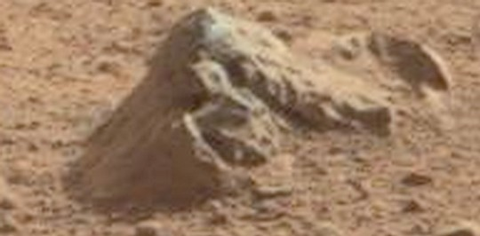 The gothic ruins of mars ancient seen on rover