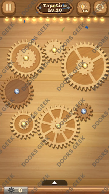 Fix it: Gear Puzzle [TapeLine] Level 20 Solution, Cheats, Walkthrough for Android, iPhone, iPad and iPod