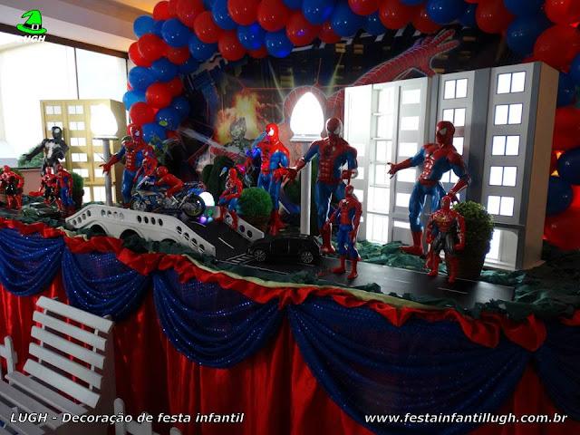 Tema Homem Aranha - mesa decorativa - aniversário infantil