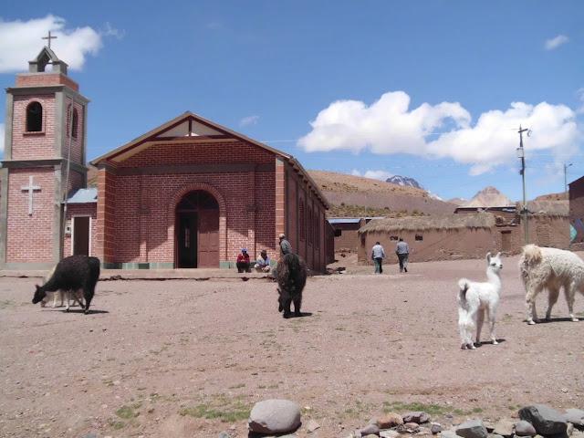 Beim Sonntagsgottesdienst in Guadalupe