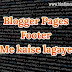 Blogger Blog Page Links Footer Me Kaise Lagaye