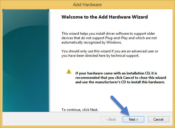 add Hardware Wizard