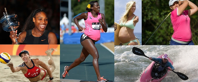 pregnant women playing sport