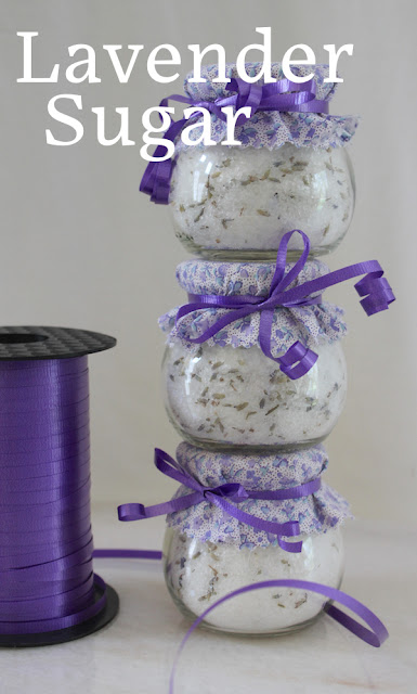 Food Lust People Love: Lavender sugar is so easy to make! Just three ingredients: sugar, lavender and time. Look no farther if you need pretty, beautiful (inexpensive!) favors for a wedding or shower favor. It makes a wonderful gift for your favorite bakers.