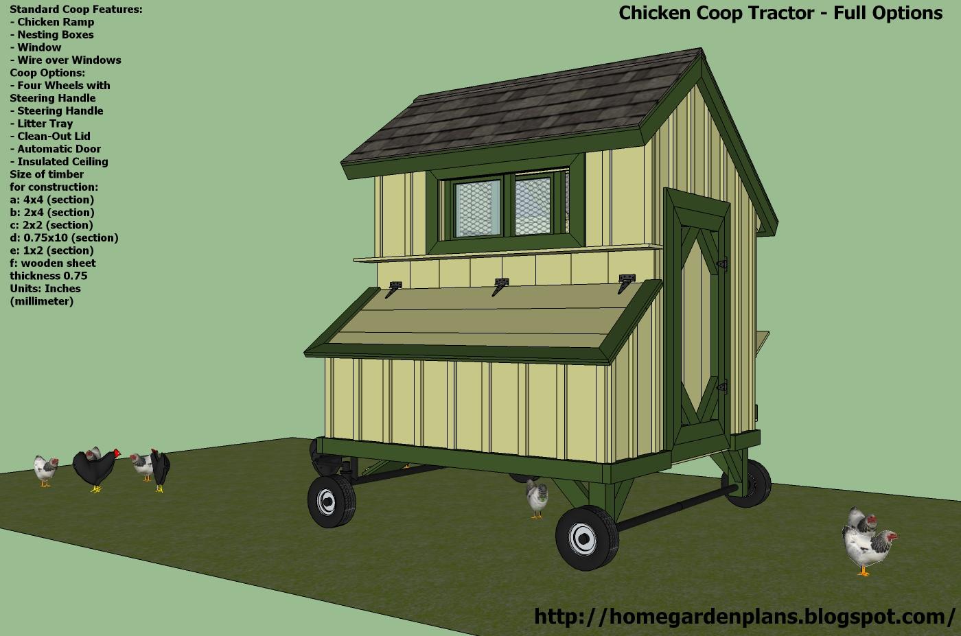 Home Garden Plans T200 Chicken Coop Tractor Plans
