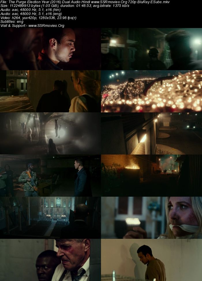 The Purge: Election Year (2016) Dual Audio Hindi 720p BluRay
