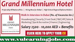 Millennium Hotel Jobs - Millennium Hotels Dubai - Middle East -  Jobs In 2019