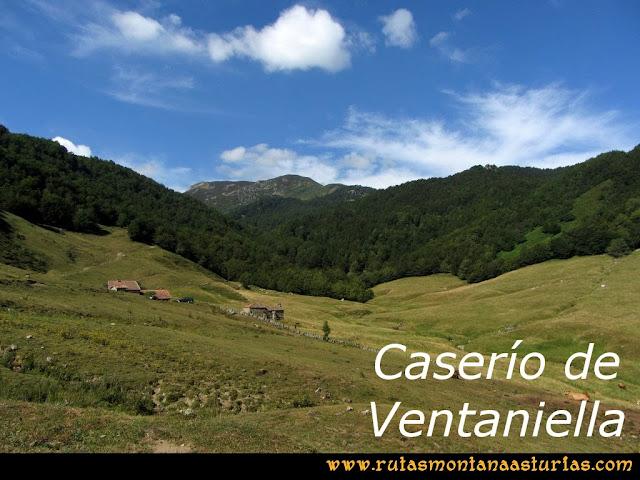 Ruta Ventaniella, Ten y Pileñes: Caserío de Ventaniella