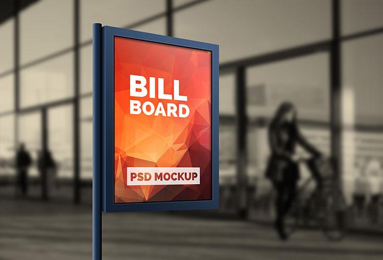 Outdoor Advertising Billboard PSD Mockup