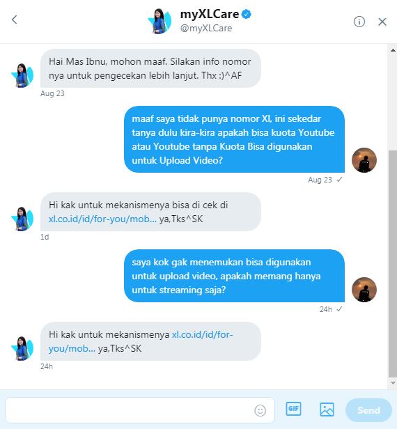 percakapan dengan myXlCare