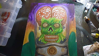 mars attacks oil painting