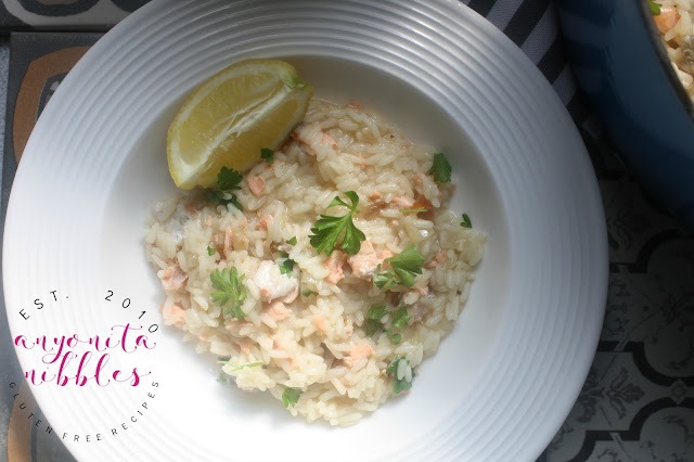 Gluten Free One Pot Salmon Pilaf