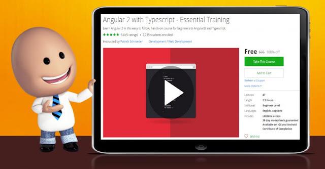 [100% Off] Angular 2 with Typescript - Essential Training| Worth 95$