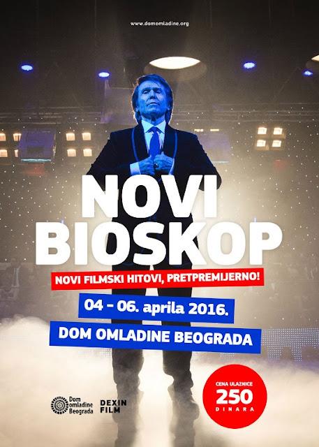 Novi filmski hitovi pretpremijerno u Bioskopu Doma omladine Beograda