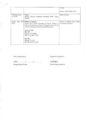 contoh jadwal perjalanan untuk visa jepang