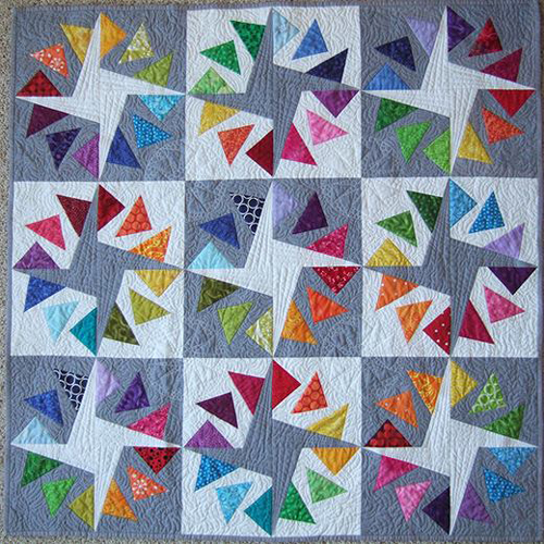 Quilt Circle Geese Patchwork - Free Pattern