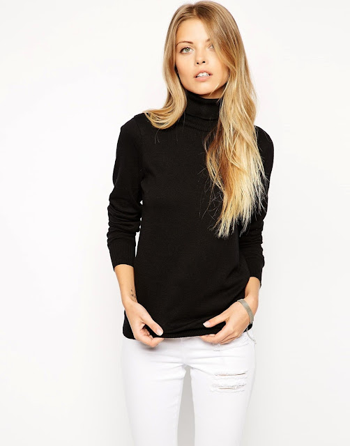 black roll neck
