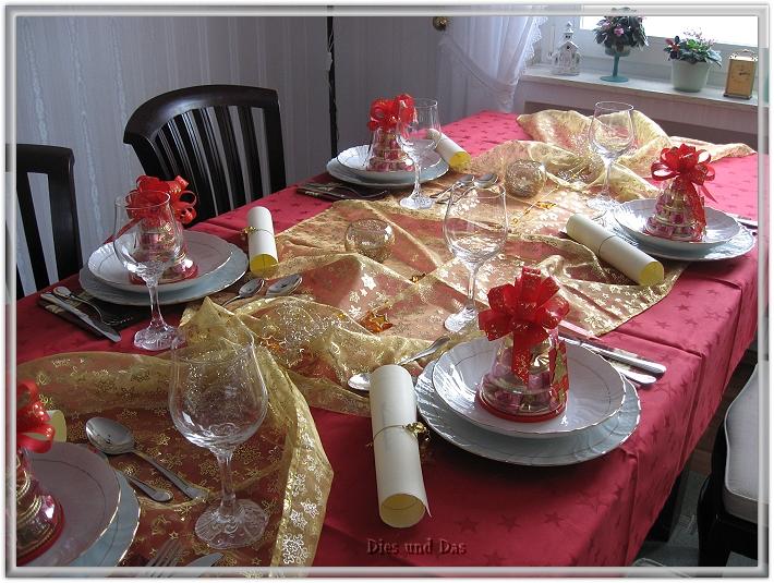 Dies und Das Tischdekoration zu Weihnachten