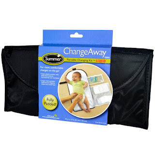 حقيبة تنظيف الطفل مع جيوب حافظة  Summer Infant, ChangeAway, Portable Changing Kit, From Birth