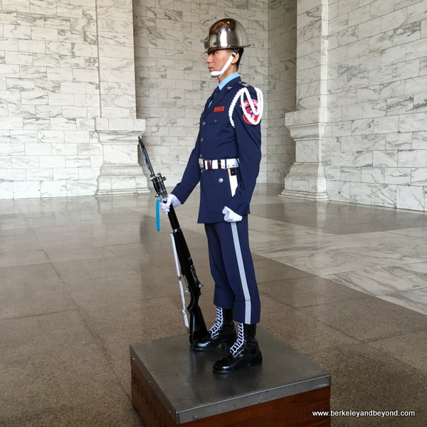 guard at National Chiang Kai-shek Memorial Hall in Taipei, Taiwan