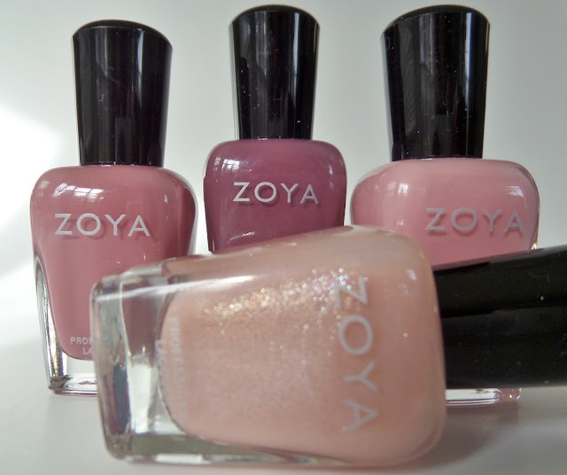 zoya all snuggled up polish quad bottles