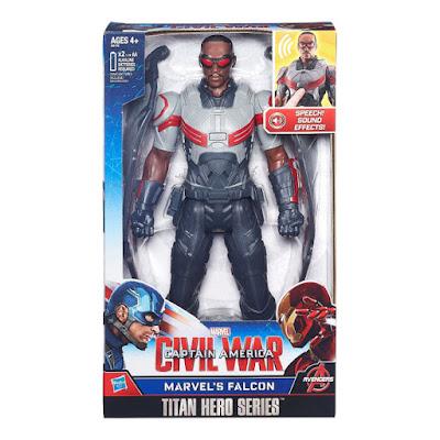 TOYS : JUGUETES - MARVEL Titan Hero Series  Falcon : Figura - Muñeco Electronico  Capitán América Civil War | Los Vengadores - Avengers  Producto Oficial Película 2016 | Hasbro B6178 | A partir de 4 años  Comprar en Amazon España & buy Amazon USA