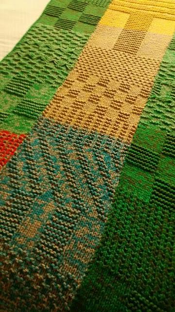 dos agujas manta puntos - Mantas tejidas para el sillón, detalles de decoracion para crear espacios acogedores