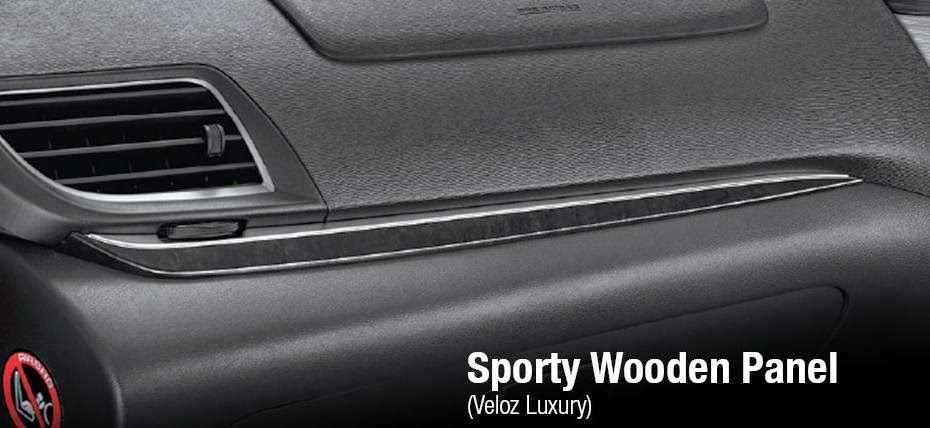 Toyota New Avanza Luxury sporty wooden panel