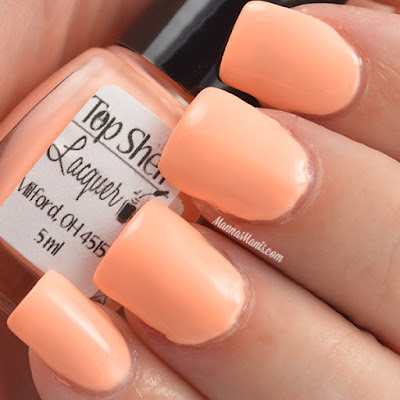 Top Shelf Lacquer Captain Creamsicle swatches