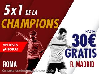 suertia promocion Roma vs Real Madrid 27 noviembre