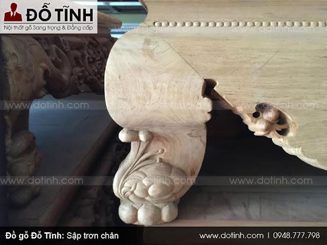 Sập trơn chân - Mẫu sập gụ gỗ đẹp