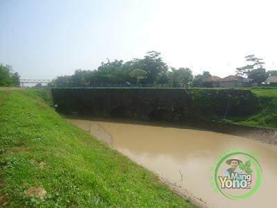Sasak serong saluran sungai ke Binong