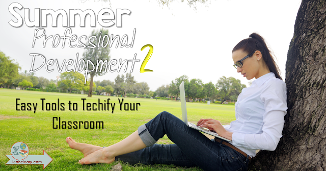 I've got some really great, easy tools to recommend in this post that will help you techify your classroom next school year! I'm sharing with you two apps, two add-ons, and two extensions that you can use. This post is part of my Summer Professional Development series, so click through to read about these tech tools and keep up with the rest of the series!