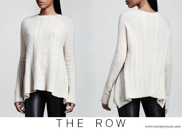 Meghan Markle wore THE ROW Cable Knit Swing Sweater