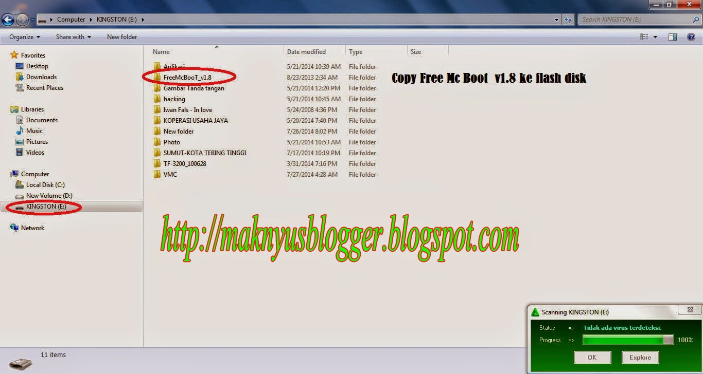Install Free MC Boot tanpa Cd Ulanchelf