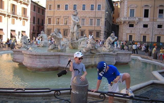 Faça um tour ao ar livre com as crianças em Roma