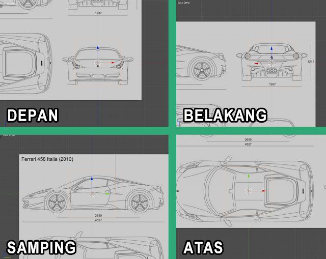 Berbagai sudut pandang blueprint yang baik.