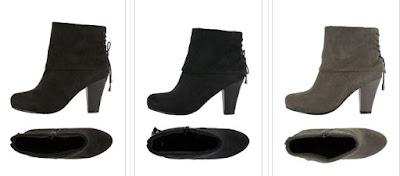 botines negro gris